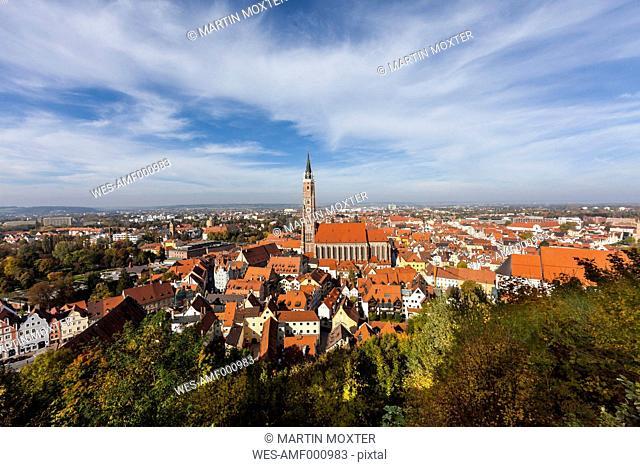 Germany, Bavaria, Landshut, Cityscape with St. Martin's Church