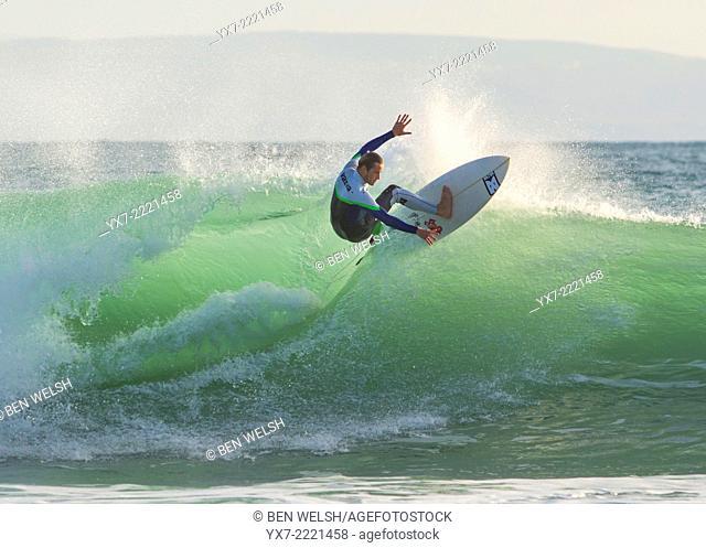Surfer. Tarifa, Cadiz, Costa de la Luz, Andalusia, Spain, Europe
