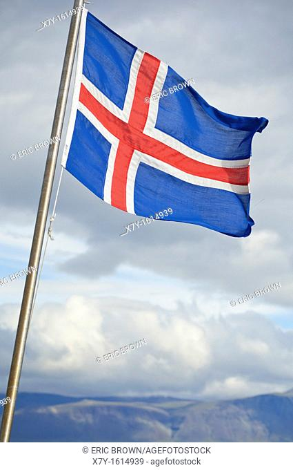 The Icelandic flag