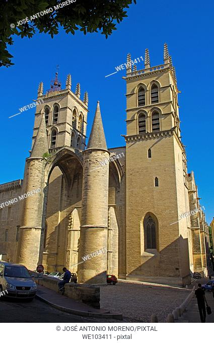 St Pierre cathedral, Montpellier, Herault, Languedoc-Roussillon, France