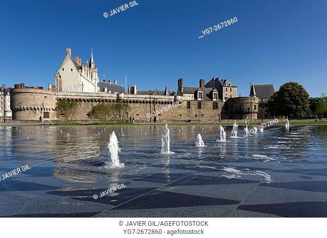 Castle of the Dukes of Brittany, Nantes, Pays de la Loire, France