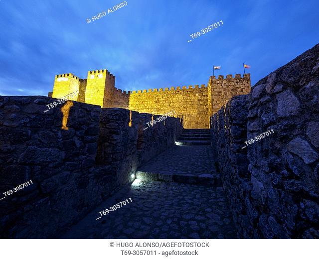 NIght view of Trujillo Castle, Trujillo, Extremadura, Spain