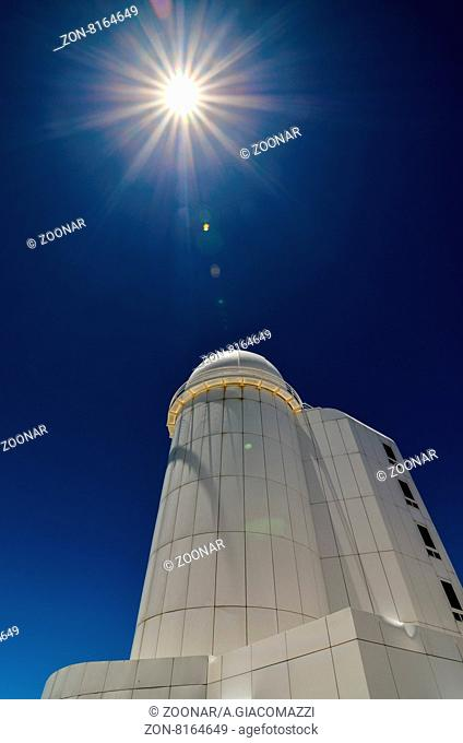 Telescopes of the Teide Astronomical Observatory in Tenerife, Spain
