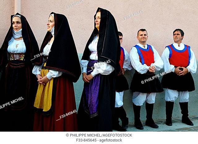 Corpus Domini procession, Lula, Province of Nuoro, Sardinia, Italy