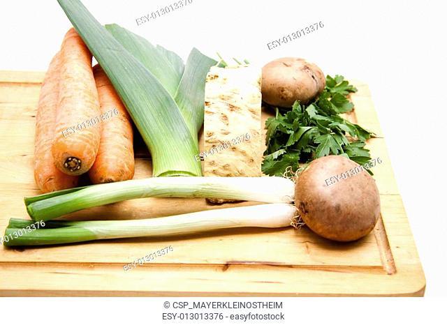 Carrots and leek