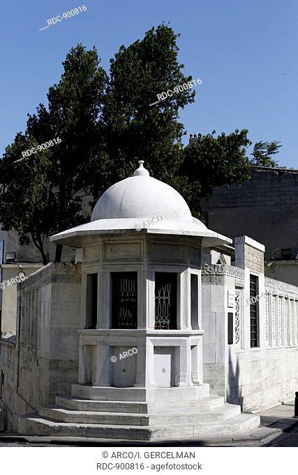 Turbeh of Mimar Sinan in Istanbul, city of Turkey