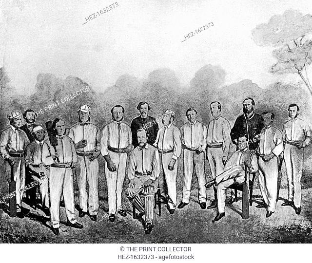 The first English cricket team to visit Australia, 1861-1862 (1912). From Imperial Cricket, edited by P F Warner and published by The London and Counties Press...