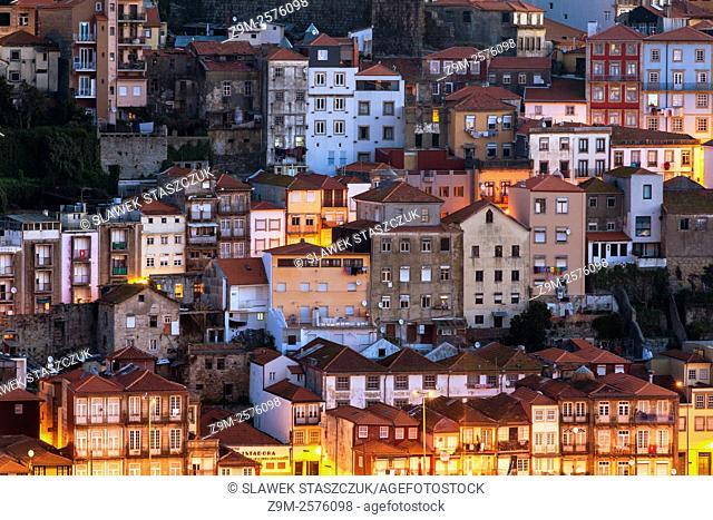 Huddled houses in historic centre of Porto
