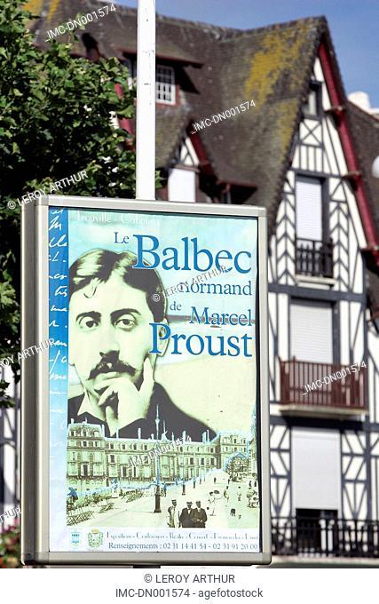 France, Normandy, Trouville-sur-Mer, advertising
