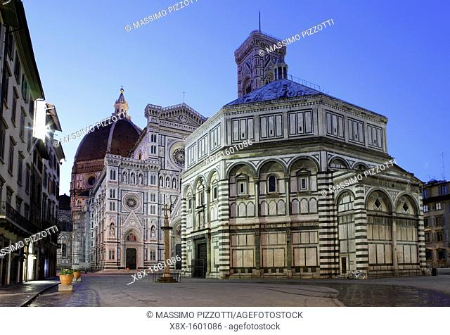The Duomo of Santa Maria del Fiore and the Baptistry, Florence, Italy