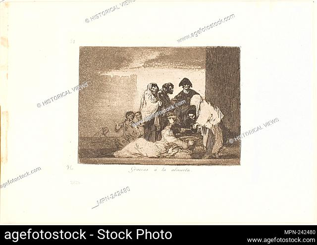 Thanks to the Millet, plate 51 from The Disasters of War - 1812/15, published 1863 - Francisco José de Goya y Lucientes Spanish
