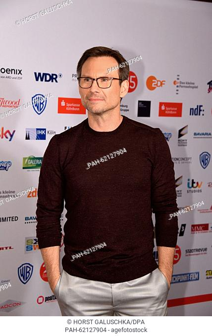 US actor Christian Slater (given name: Christian Michael Leonard Hawkins) arrives at the presentation event of the TV show 'Mr