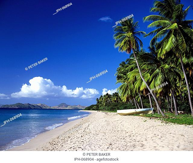 Pinney's Beach on the beautiful tropical island of Nevis