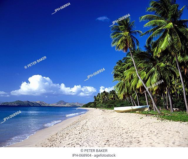 Pinney's Beach on the beautiful tropical island of Nevis