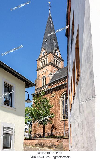 Europe, Germany, Rhineland-Palatinate, district Trier-Saarburg, the Moselle, Mittelmosel, Schweich, St. Martin's church