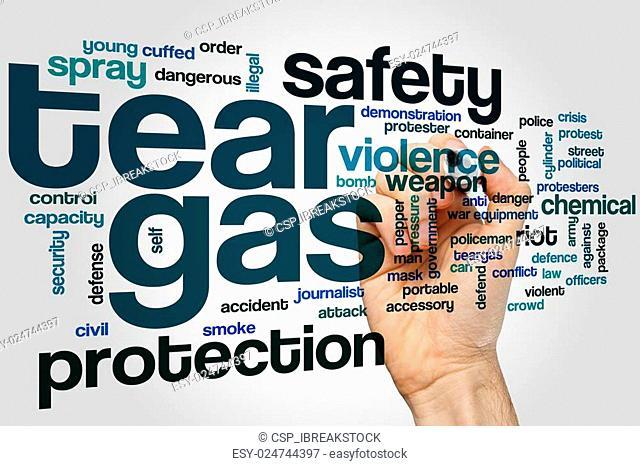 Tear gas word cloud