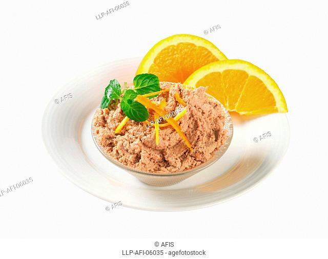 Meat spread with orange