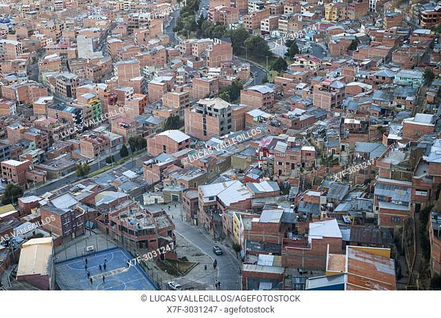Panoramic view, La Paz, Bolivia