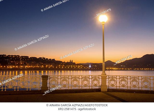 Sunset in Donostia - San Sebastian, Basque Country