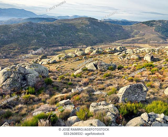 Sierra de la Paramera from Cabeza Alta hill. Navandrinal. Avila. Castilla Leon. Spain. Europe