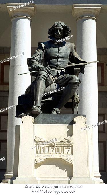 Statue of Velazquez in front of Prado Museum, Madrid. Spain