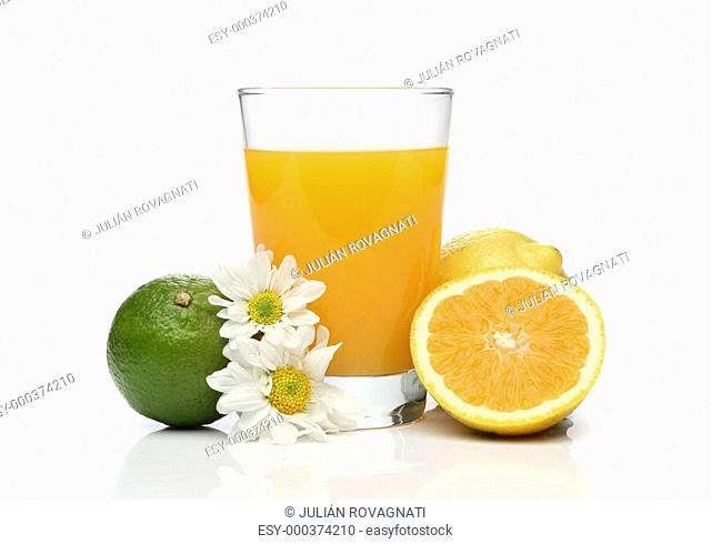 Orange juice with fruit composition