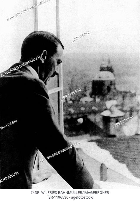 Adolf Hitler at the emperor's castle, March 15th 1938, Prague, Czechoslovakia, Europe, historical photo