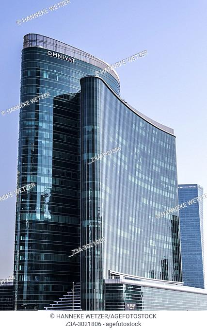 Sky Tower 1, The Binary; brand new modern architecture in Business Bay, a business capital as well as a freehold city in Dubai, United Arab Emirates