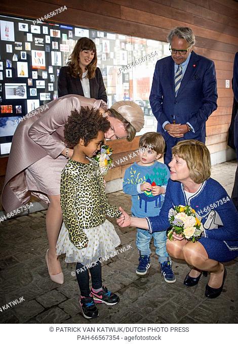 Queen Mathilde and Daniela Schadt visit the Rubenshuis with art of Peter Paul Rubens in Antwerp, Belgium, 9 March 2016. The German president is in Belgium for...