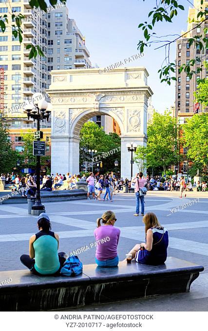Washington Square Park Arch, New York, New York, USA