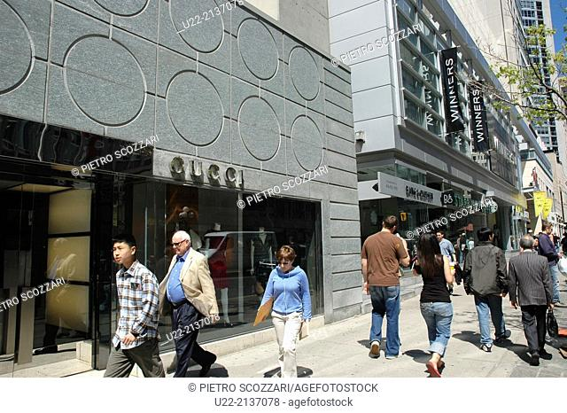 Toronto Canada: Gucci store along Bloor Street