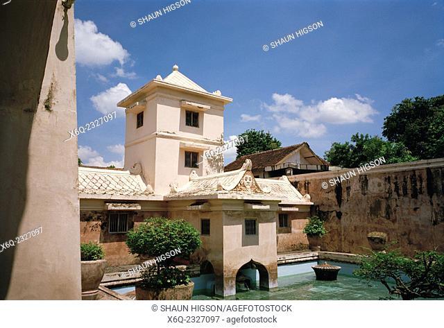 The Taman Sari Water Castle complex in Yogyakarta in Java in Indonesia in Southeast Asia Far East
