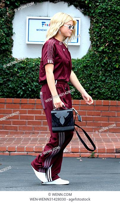 Sofia Richie wears a tracksuit to lunch at Fred Segal Featuring: Sofia Richie Where: West Hollywood, California, United States When: 09 May 2017 Credit: WENN