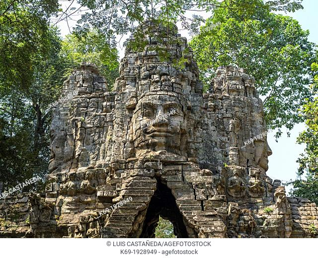 Angkor Thom, located in present day Cambodia, was the last and most enduring capital city of the Khmer empire. It was established in the late twelfth century by...