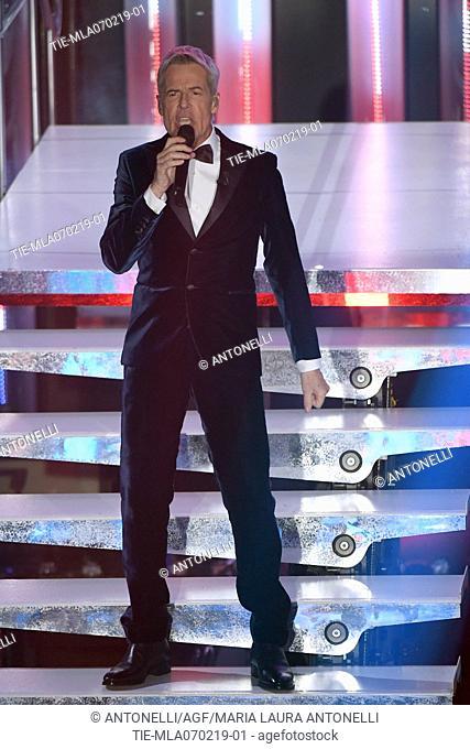 Claudio Baglioni during Sanremo third evening. 69th Festival of the Italian Song. Sanremo, Italy 07 Febr 2019