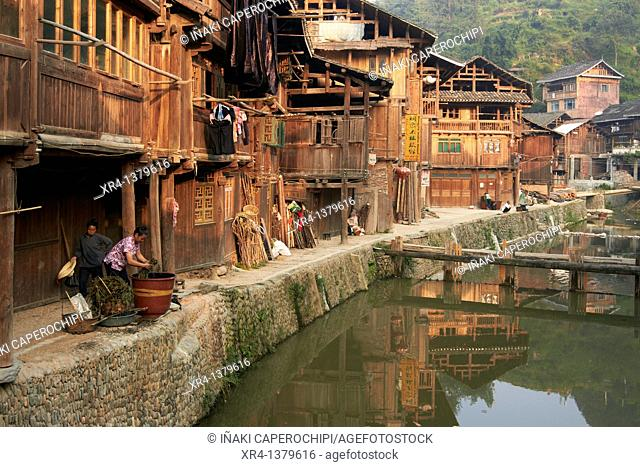Alleys Zhaoxing, Zhaoxing, Guizhou, China