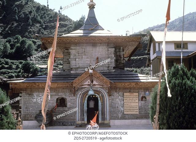 Hatesvari Durga temple, Hatkoti, Himachal Pradesh. The temple of Hatesvari Durga in Hatkoti dates from 8-9th. Century A. D