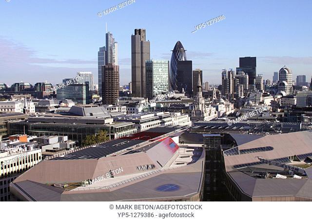 London financial district skyline 2010