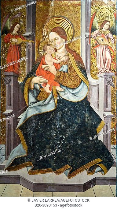 Virgen with Child, 1485-1495, Juan de la Abadía el Mayor, Diocesan Museum, Museo Diocesano, Jaca, Huesca province, Aragón, Spain, Europe
