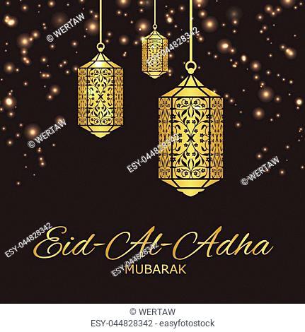 "Arabic Islamic Eid-Al-Adha (also called the """"Sacrifice Feast"""") background for Muslim festival celebration"