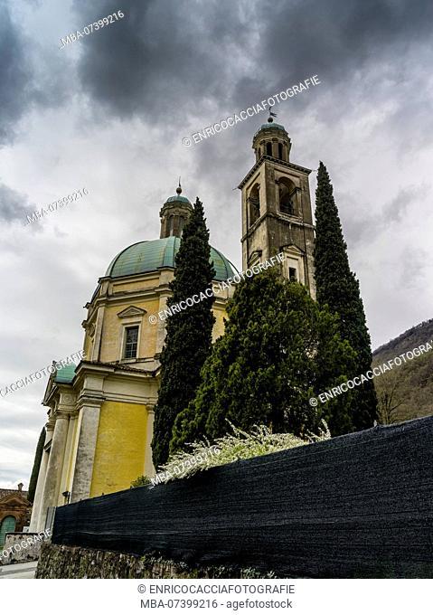 Church Tempo Sante Croce at Riva San Vitale in Ticino
