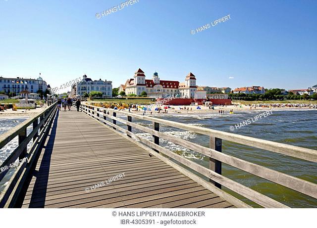 Seaside resort Binz, spa hotel, Binz, Rügen, Mecklenburg-Western Pomerania, Germany, Europe