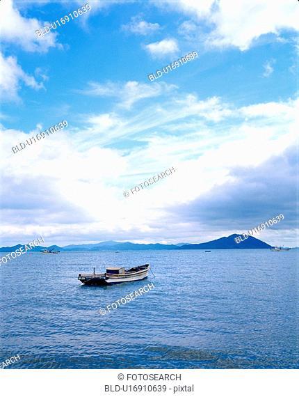 sky, nature, ship, sea, scenery, film