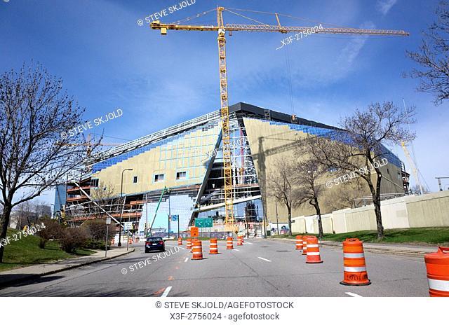 Construction of The NFL Minnesota Viking U. S. Bank Stadium April 15th 2015. Minneapolis Minnesota MN USA