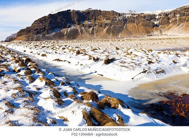 Winter landscape, Southern Iceland, Iceland, Europe