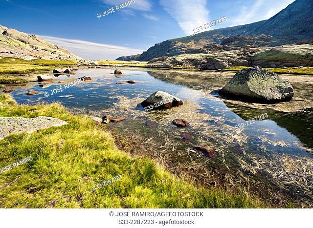 Big Lagoon in Gredos. Avila. Castilla Leon. Spain. Europe