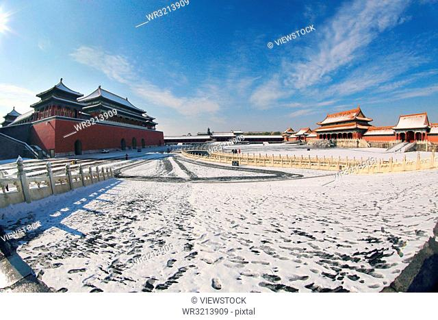 The Forbidden City snow