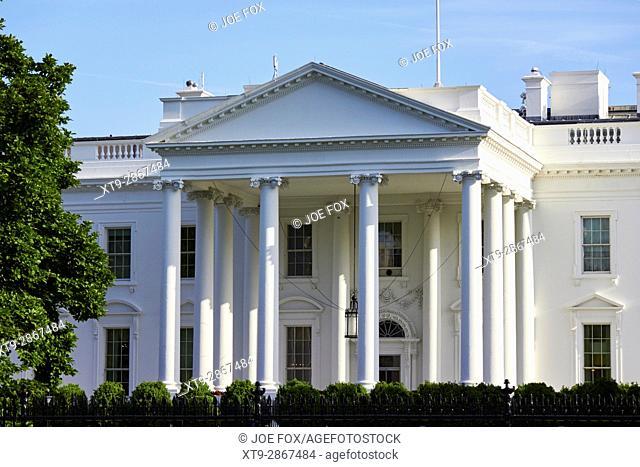 north facade of the White House Washington DC USA