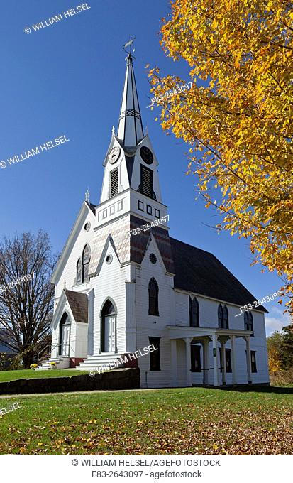 Presbyterian church, Rygate Corner, Vermont, USA, October