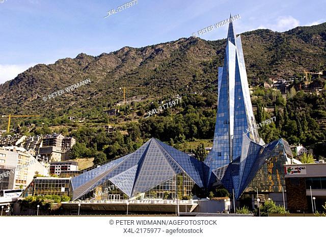 Andorra La Vella, hot springs Caldea, Andorra, Escaldes-Engordany